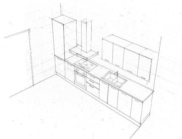 Disegnare una stanza in prospettiva con mobili - Disegnare cucina ikea ...