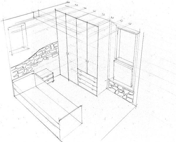 Disegno tecnica prospettiva idee creative di interni e for Disegni della stanza del fango